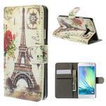 Stylové klopové pouzdro na Samsung Galaxy A3 - Eiffel - 1/7