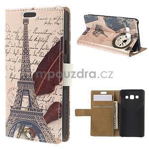Peněženkové pouzdro na Samsung Galaxy A3 - Eiffelova věž - 1