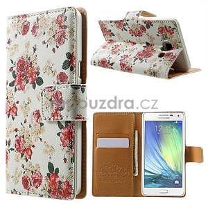 Peněženkové zapínací pouzdro na Samsung Galaxy A5 - růže elegant - 1