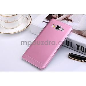 Růžový kovový kryt pro Samsung Galaxy A5 - 1