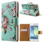 Peněženkové zapínací pouzdro na Samsung Galaxy A5 - kytice - 1/7