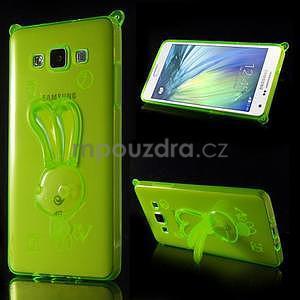 Zelený gelový obal s nastavitelným stojánkem na Samsung Galaxy A5 - 1