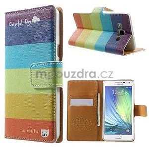 Peněženkové zapínací pouzdro na Samsung Galaxy A5 - barvy - 1