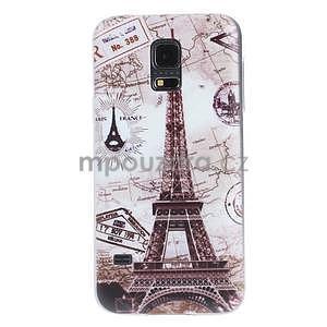Ultra tenký gelový obal Samsung Galaxy S5 mini - Eiffel - 1
