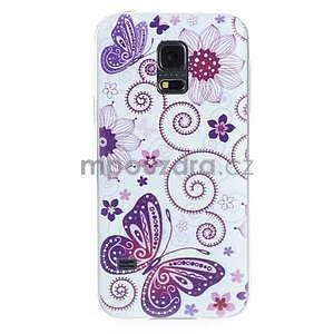Ultra tenký gelový obal Samsung Galaxy S5 mini - motýlek - 1