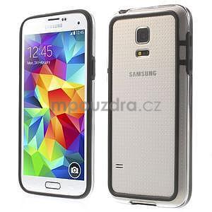 Černý gelový kryt s plastovými lemy na Samsung Galaxy S5 mini - 1