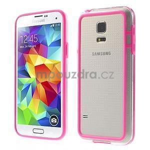 Rose gelový kryt s plastovými lemy na Samsung Galaxy S5 mini - 1