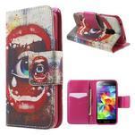 Zapínací peněženkové pouzdro na Samsung Galaxy S5 mini - oko - 1/7