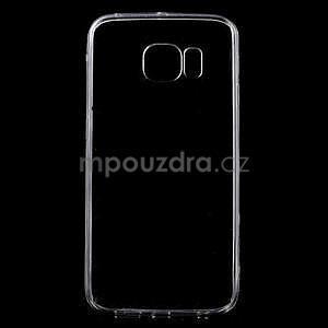 Šedý hybridní gelový obal na Samsung Galaxy S6 Edge - 1