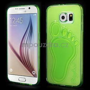Protiskluzový gelový kryt na Samsung Galaxy S6 - zelený - 1