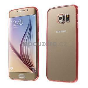 Rose hybridní gelový obal na Samsung Galaxy S6 Edge - 1