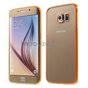 Oranžový hybridní gelový obal na Samsung Galaxy S6 Edge - 1