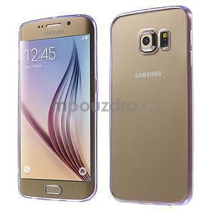 Fialový hybridní gelový obal na Samsung Galaxy S6 Edge - 1