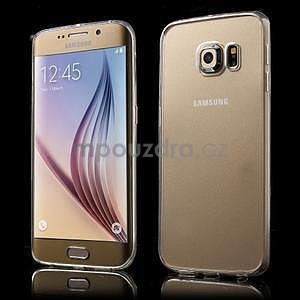 Transparentní hybridní gelový obal na Samsung Galaxy S6 Edge - 1