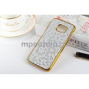 Elegantní plastový kryt na Samsung Galaxy S6 Edge - stříbrný - 1