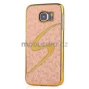 Elegantní plastový kryt na Samung Galaxy S6 - champagne - 1