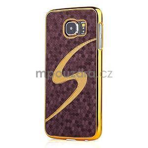 Elegantní plastový kryt na Samung Galaxy S6 - fialový - 1