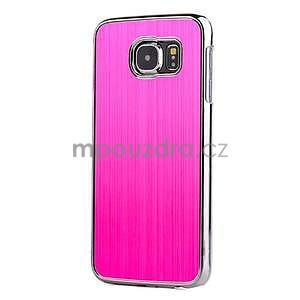 Rose hliníkový kryt s plastovými lemy na Samsung Galaxy S6