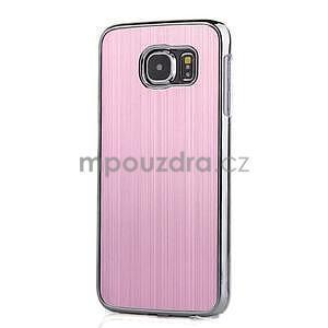 Růžový hliníkový kryt s plastovými lemy na Samsung Galaxy S6