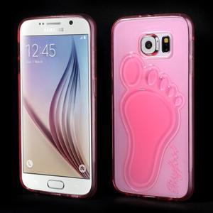 Protiskluzový gelový kryt na Samsung Galaxy S6 - rose - 1