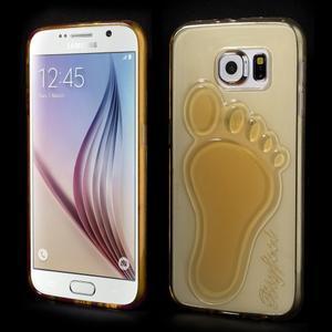 Protiskluzový gelový kryt na Samsung Galaxy S6 - zlatý - 1