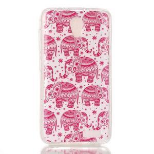 Softy gelový obal na mobil Lenovo A319 - růžoví sloni - 1