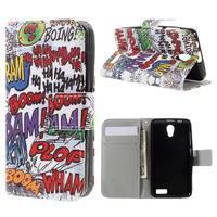 Styles peněženkové pouzdro na mobil Lenovo A319 - graffiti - 1/7