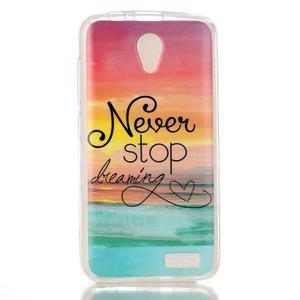 Softy gelový obal na mobil Lenovo A319 - nepřestávej snít - 1