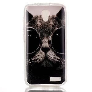 Softy gelový obal na mobil Lenovo A319 - cool kočka - 1