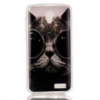 Softy gelový obal na mobil Lenovo A319 - cool kočka - 1/3
