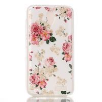 Softy gelový obal na mobil Lenovo A319 - květiny - 1/3
