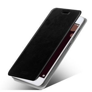Moof PU kožené pouzdro na mobil Lenovo S90 - černé - 1