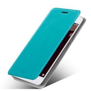 Moof PU kožené pouzdro na mobil Lenovo S90 - modré - 1