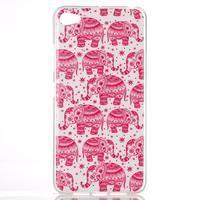 Glossy gelový obal na mobil Lenovo S90 - červení sloni - 1/3