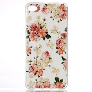 Glossy gelový obal na mobil Lenovo S90 - květiny - 1