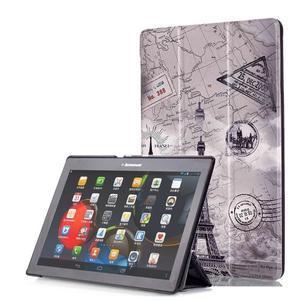 Polohovatelné pouzdro na tablet Lenovo Tab 2 A10-70 - Eiffelova věž - 1