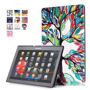 Polohovatelné pouzdro na tablet Lenovo Tab 2 A10-70 - malovaný strom - 1