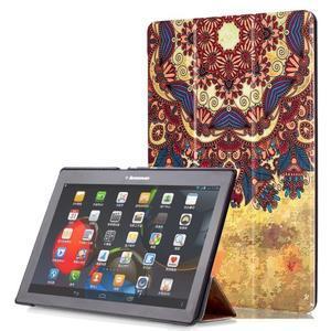 Polohovatelné pouzdro na tablet Lenovo Tab 2 A10-70 - vintage květiny - 1