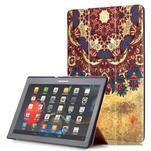 Polohovatelné pouzdro na tablet Lenovo Tab 2 A10-70 - vintage květiny - 1/6