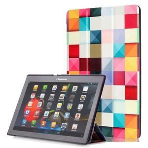 Polohovatelné pouzdro na tablet Lenovo Tab 2 A10-70 - barevné kostky - 1