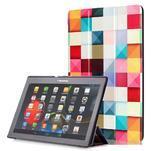 Polohovatelné pouzdro na tablet Lenovo Tab 2 A10-70 - barevné kostky - 1/6