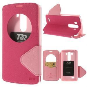 Diary pouzdro s okýnkem na mobil LG G3 - rose - 1
