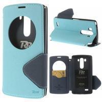 Diary pouzdro s okýnkem na mobil LG G3 - světlemodré - 1/7