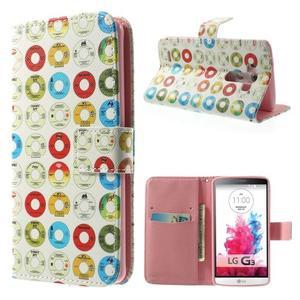 Obrázkové pouzdro na mobil LG G3 - barevná kolečka - 1