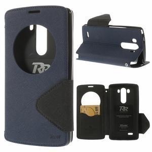 Diary pouzdro s okýnkem na mobil LG G3 - tmavěmodré - 1