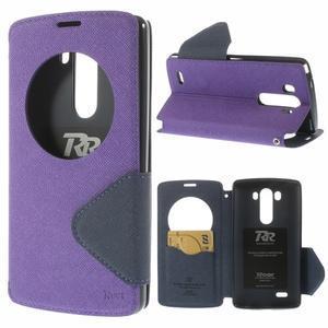 Diary pouzdro s okýnkem na mobil LG G3 - fialové - 1
