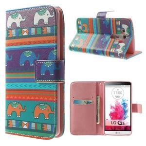 Obrázkové pouzdro na mobil LG G3 - tribal - 1