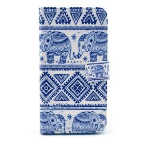 Obrázkové pouzdro na mobil LG G3 - modří sloni - 1