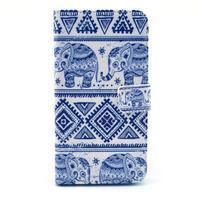 Obrázkové pouzdro na mobil LG G3 - modří sloni - 1/6