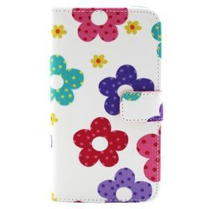 Obrázkové koženkové pouzdro na mobil LG G3 - malované květiny - 1